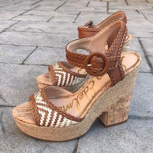 Sam Edelman Woven / Cork Lillie Platform Sandals